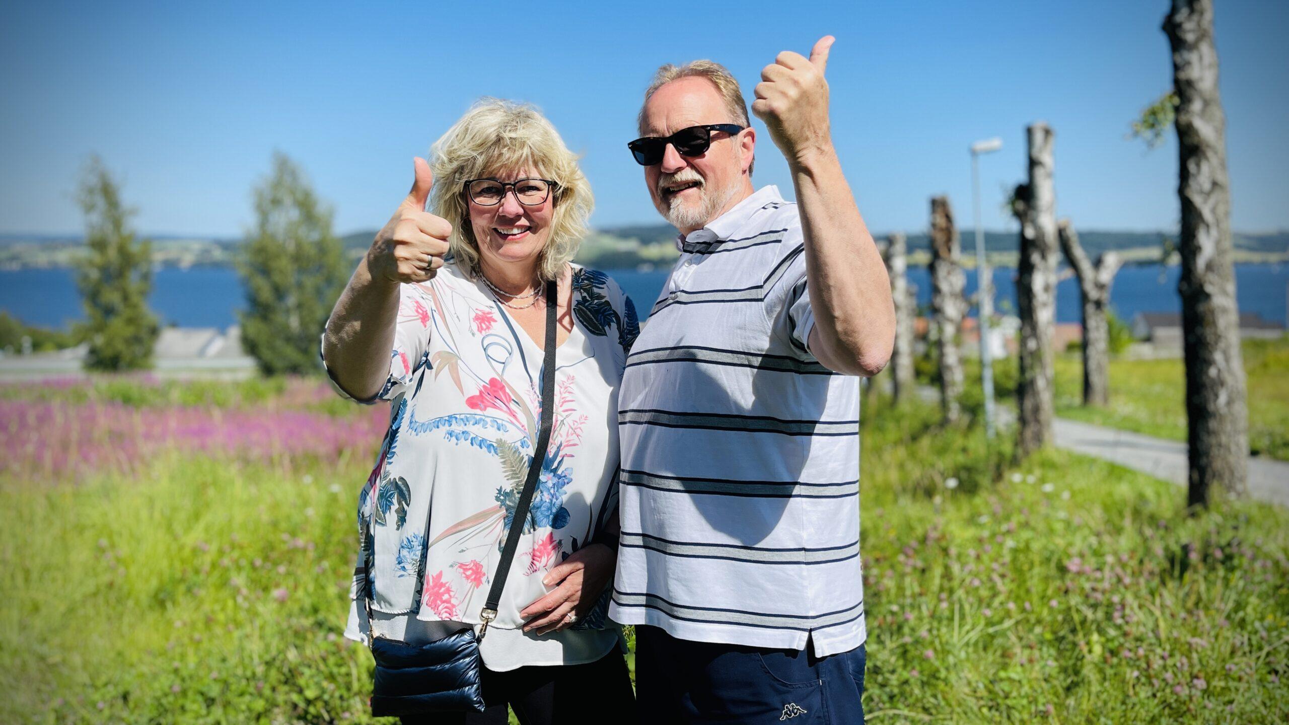 Nils Erik Berge og kona har kjøpt drømmeleiligheten.