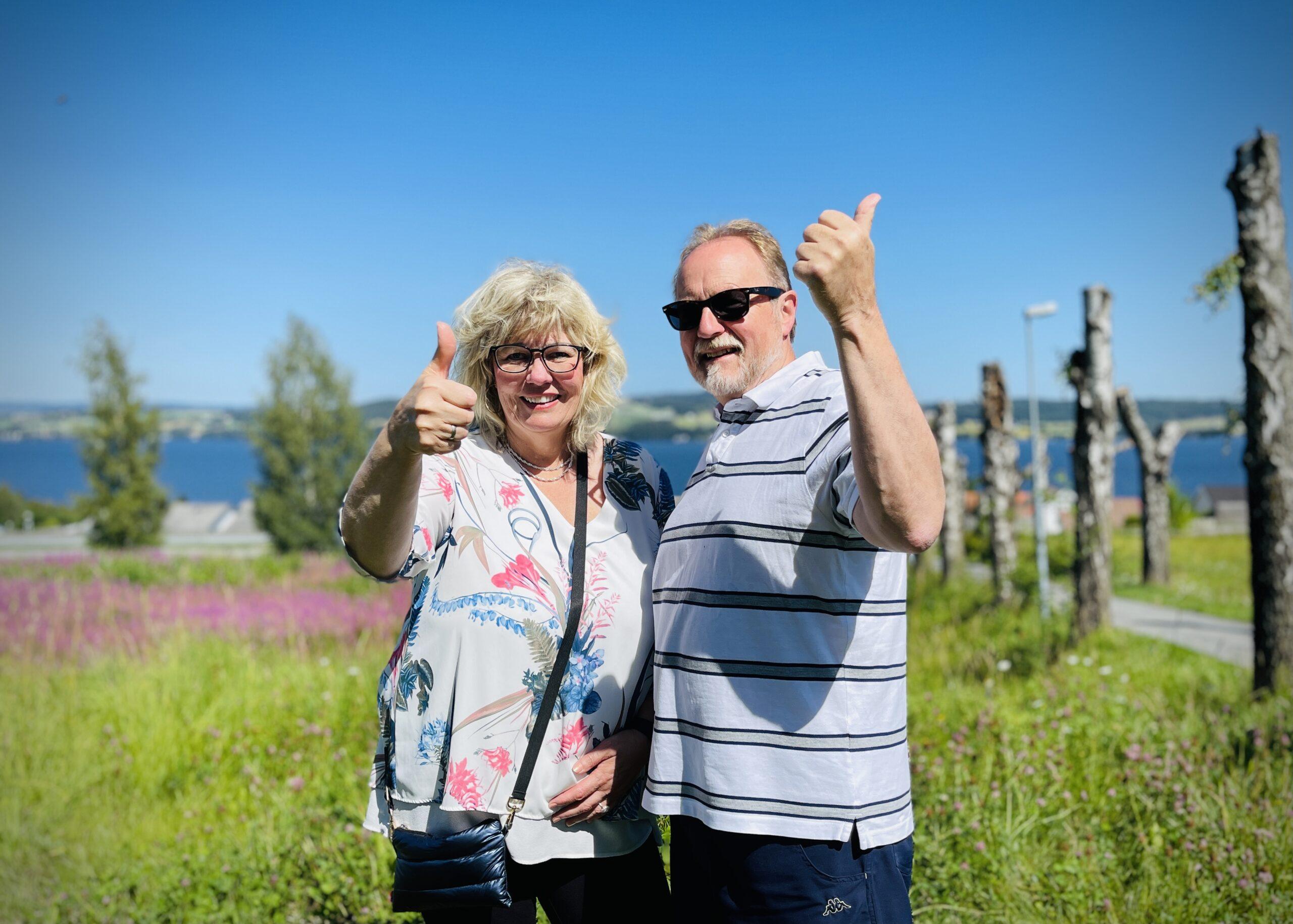 Nils Erik Berge og kona Jane.
